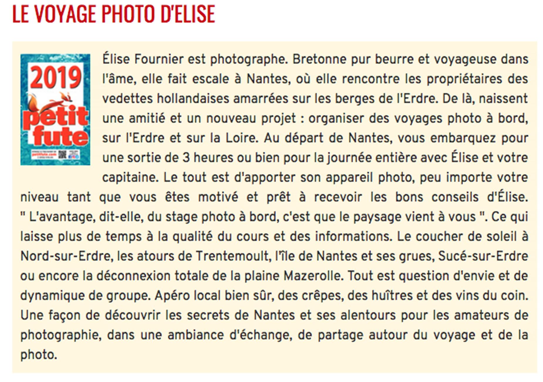 , Juin 2019 – Le Label Petit Futé pour le Voyage Photo !