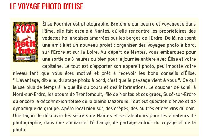 , Le Label Petit Futé 2020 pour le Voyage Photo !